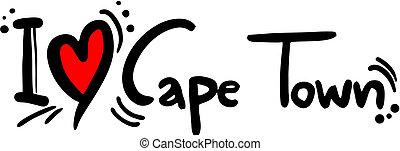 Cape town love - Creative design of cape town love