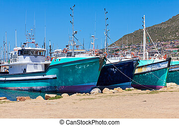 Cape Town, South Afrca. Hoyt Bay. Fishing Boats.