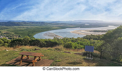 Cape Tribulation Cooktown view of Endeavour riverfrom Grassy...