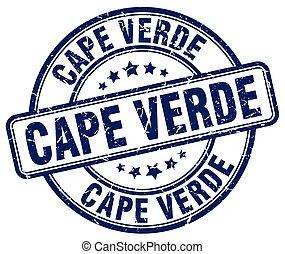 Cape Verde blue grunge round vintage rubber stamp