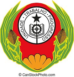Cape Verde coat of arms national emblem vector