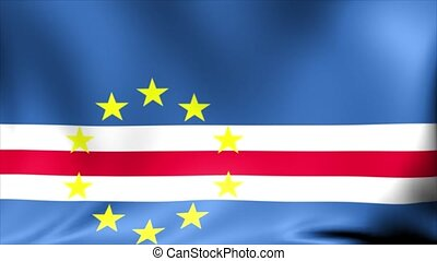 Cape Verde Flag. Background Seamless Looping Animation.