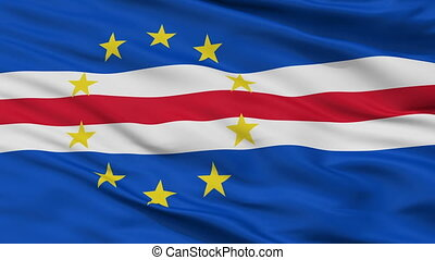 Cape Verde Flag Closeup Seamless Loop