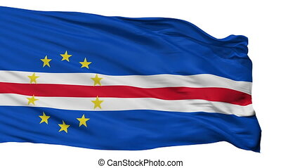 Cape Verde Flag Isolated Seamless Loop