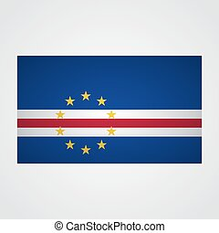 Cape Verde flag on a gray background. Vector illustration