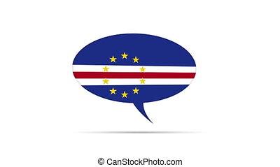 Cape Verde Flag Speech Bubble - Spinning Cape Verde Flag...