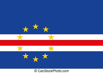 Cape Verde flag, vector illustration