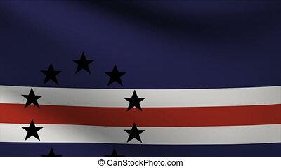 cape verde flag waving gently in wind