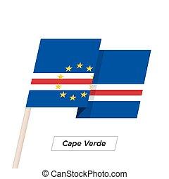 Cape Verde Ribbon Waving Flag Isolated on White. Vector ...