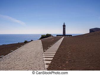 Capelinhos Lighthouse on Faial Island