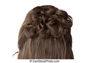 capelli, biondo, treccia