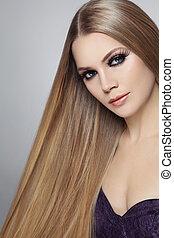 capelli, ciglia, lungo