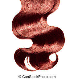capelli, sopra, riccio, bianco rosso