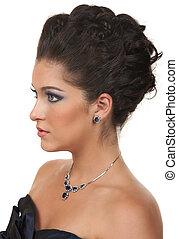 capelli, truccare, e, gioielleria