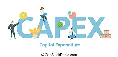 CAPEX, Capital Expenditure. Concept with keywords, letters...