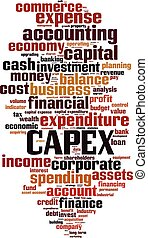 CAPEX-vertical.eps - CAPEX word cloud concept. Vector...
