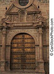 Caphedral door - church door in the Cuzco,Peru
