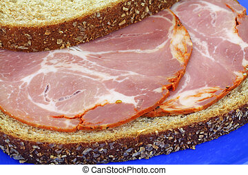 Capicola sandwich on wheat bread - A capicola sandwich on...