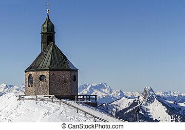 capilla, encima de, wallberg, montaña, alemania