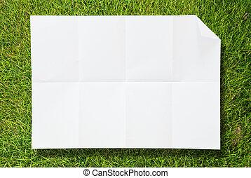 capim, papel, branca, textura