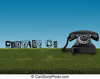 capim, telefone velho