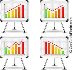 capirotazo, gráficos, con, diferente, gráficos de barra