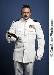 capitão navio, mar, bonito