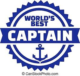 capitaine, emblème, monde, mieux, ancre