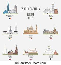 capitais, mundo