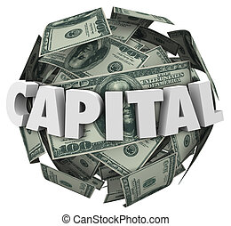 Capital 3d Word Loan Funding Financing Money Ball