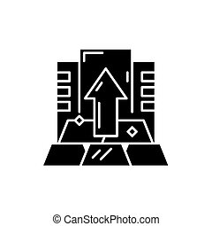 Capital black icon, vector sign on isolated background. Capital concept symbol, illustration