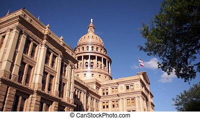 Capital Building Austin Texas Government Building Blue Skies...