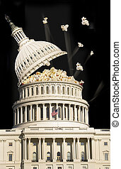 Capital Building Popping Pop Corn.