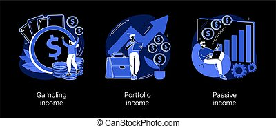 Capital gain abstract concept vector illustrations.