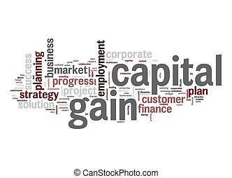 capital, gain, mot, nuage