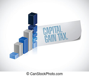capital gain tax business sign illustration design