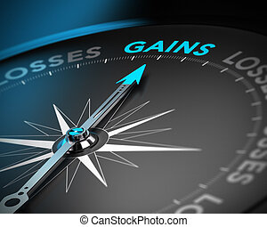Capital Gains Concept - Financial consulting concept....