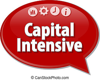 Capital Intensive Business term speech bubble illustration -...