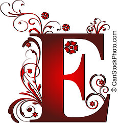 capital letter E red