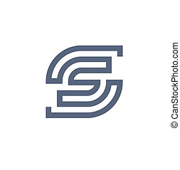 Capital letter S strips logo vector