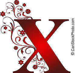 capital letter X red