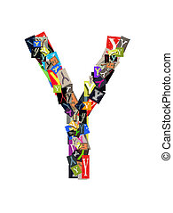 Capital letter Y on white