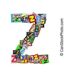 Capital letter Z on white