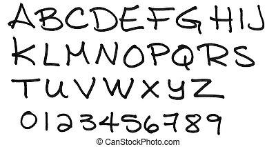 Capital letters alphabet BW