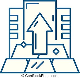 Capital line icon concept. Capital flat  vector symbol, sign, outline illustration.