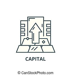 Capital line icon, vector. Capital outline sign, concept symbol, flat illustration