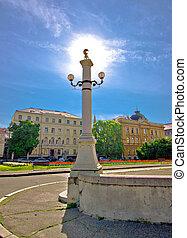 Capital of Croatia Zagreb square - Capital of Croatia Zagreb...