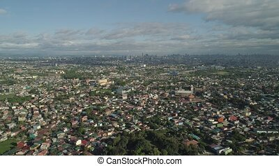 Capital of the Philippines is Manila. - Aerial view Manila...