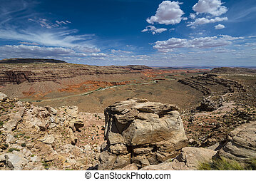 Capital Reef National Park Halls Creek Overlook - Wide angle...