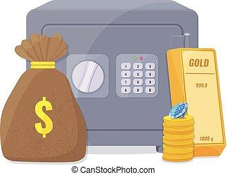 Capital, save money concept.